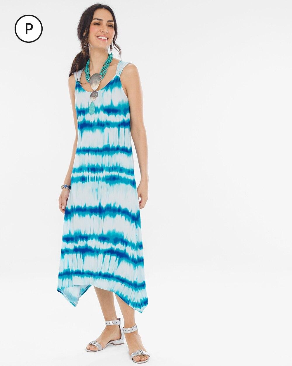 Petite Printed Shoulder-Detail Dress