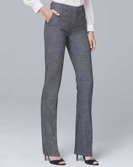 Textured Suiting Slim Flare Pants | Tuggl