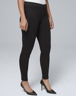 Curvy Fit Classic Rise Black Jeggings by Whbm