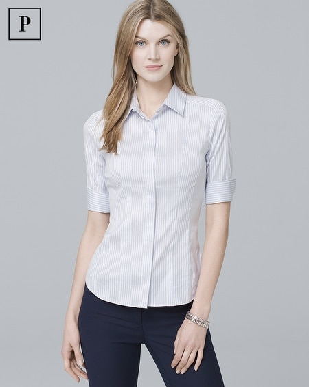 Petite Stripe Button-Down Shirt