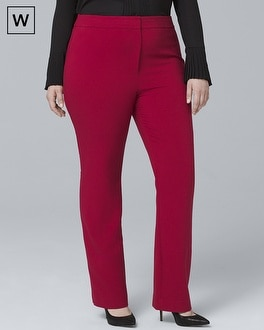 Plus Crepe Slim Flare Suiting Pants | Tuggl