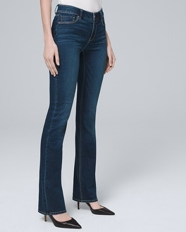 Petite Mid-Rise Bootcut Jeans | Tuggl