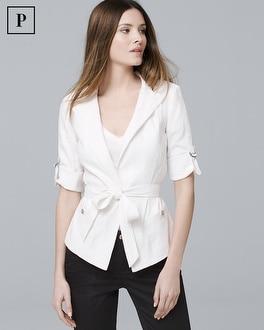 Petite Soft Utility Blazerette Jacket | Tuggl