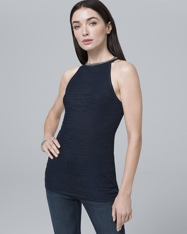 Embellished Halter Knit Top by Whbm