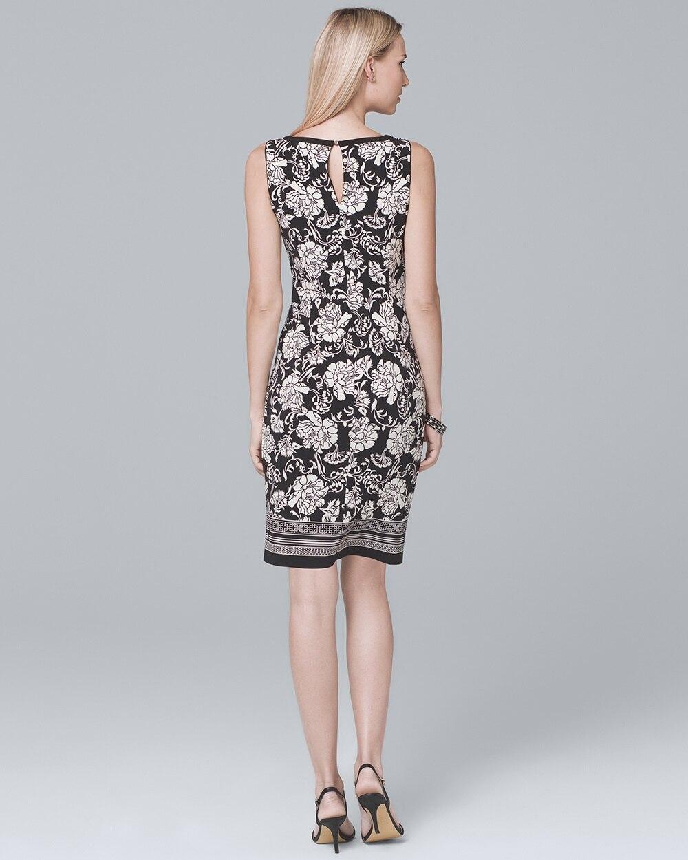 7e99ff048f Return to thumbnail image selection Reversible Border-Trim Floral Knit  Sheath Dress