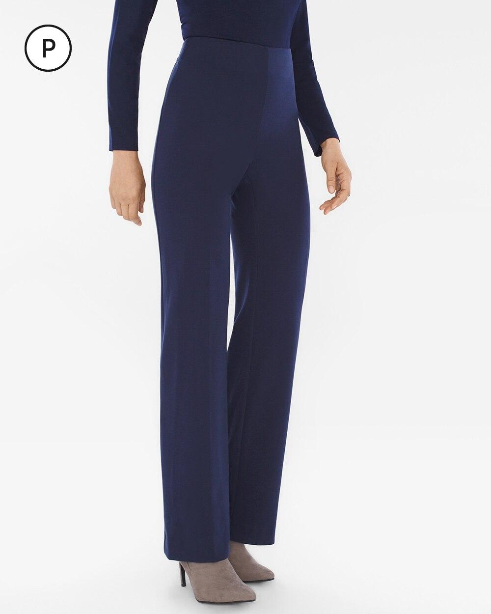 Petite Ponte Wide-Leg Trousers