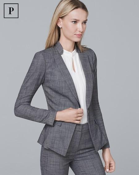 Petite Peplum Suiting Blazer Jacket