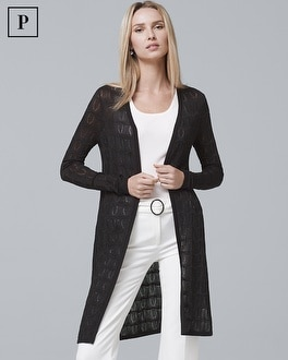 Petite Textured Knit Cover-Up | Tuggl