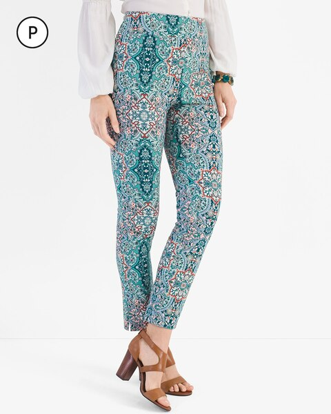 So Slimming Petite Brigitte Medallion Ankle Pants