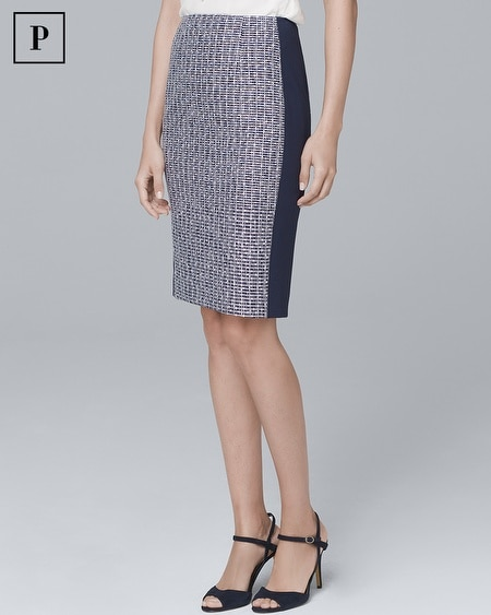 Petite Tweed Pencil Skirt