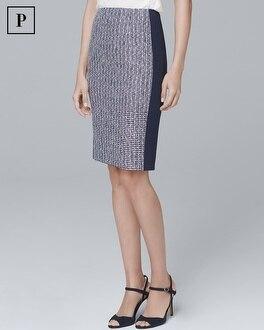 Petite Tweed Pencil Skirt | Tuggl