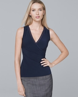 Knit Surplice Shell by Whbm