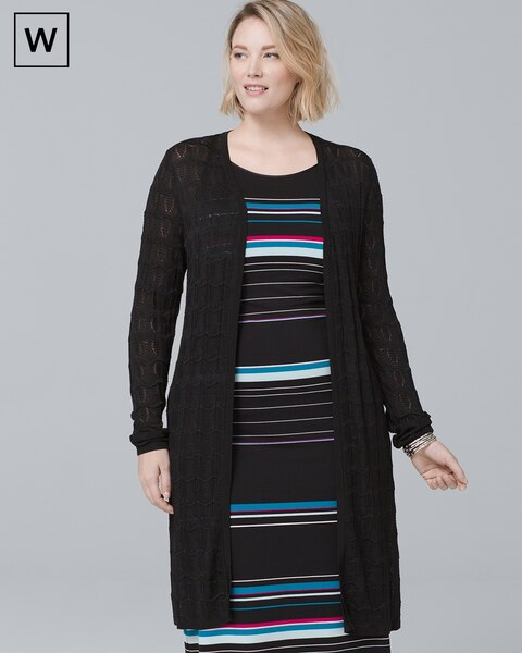 Plus Textured Knit Cover-Up