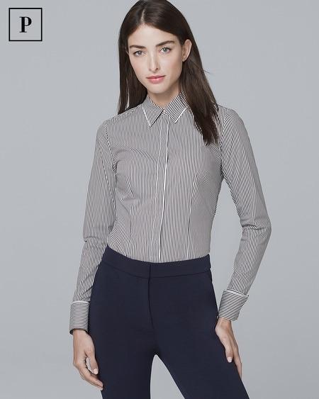 Petite Striped Poplin Shirt