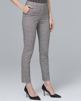 Plaid Slim Ankle Pants | Tuggl