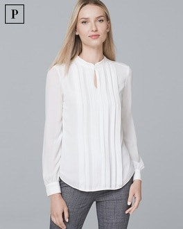 Petite Pleat Front Blouse by Whbm