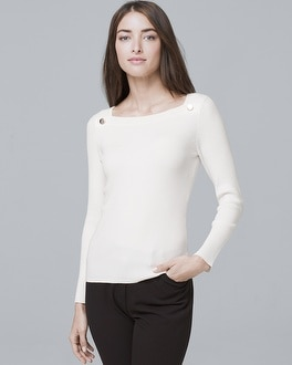 Button-Detail Sweater   Tuggl