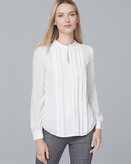 Pleat Front Blouse by Whbm