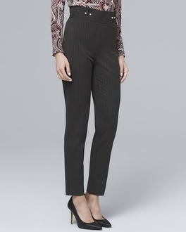 Pinstripe Tapered Ankle Pants by Whbm