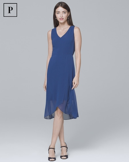 Petite Sleeveless High-Low Soft Dress