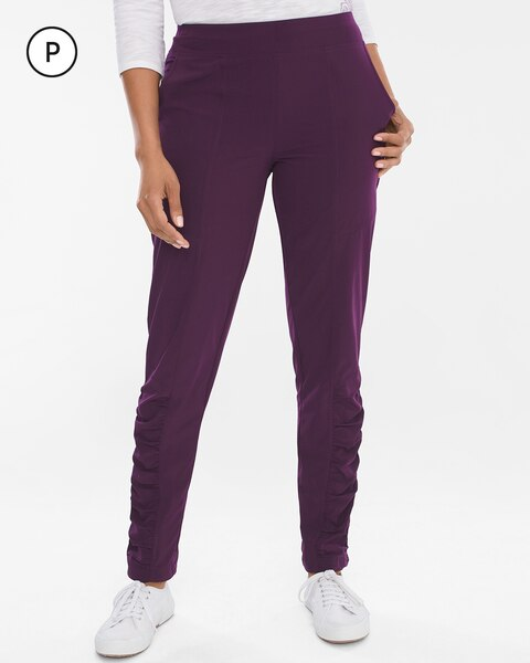 Zenergy Petite Lightweight Neema Ruched-Detail Pants