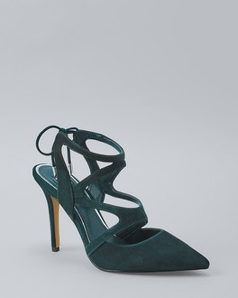 Suede Strappy Heels | Tuggl