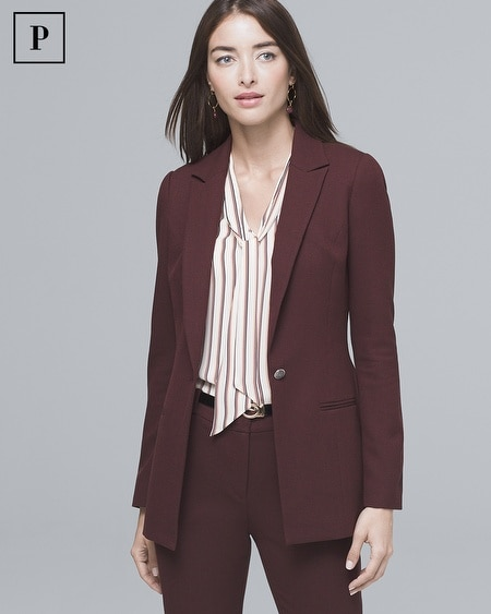 Petite Luxe Suiting Longline Jacket