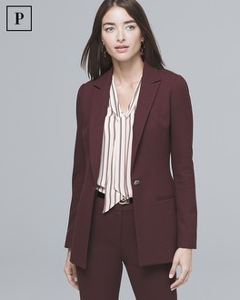 Petite Luxe Suiting Longline Jacket by Whbm