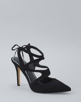 Suede Strappy Heels   Tuggl