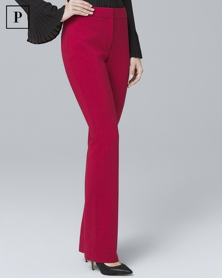 Petite Crepe Slim Flare Suiting Pants