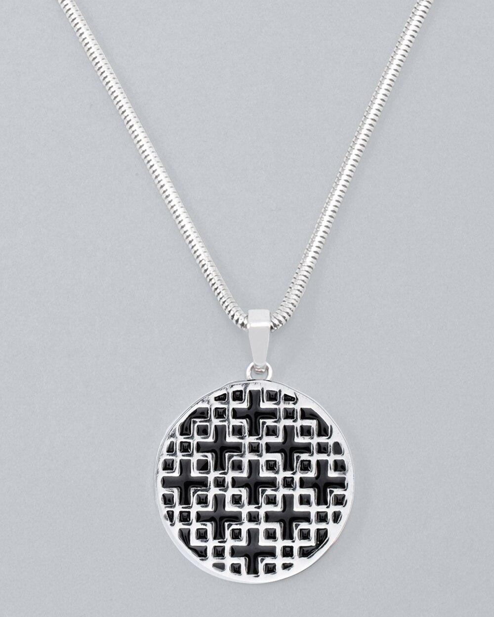 2bd0460b7414d Reversible Enamel Long Pendant Necklace