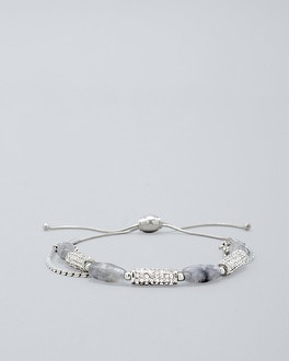 Gray Quartz Friendship Bracelet by Whbm