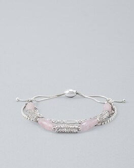 Rose Quartz Friendship Bracelet by Whbm