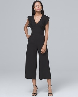 Cap Sleeve Black Jumpsuit | Tuggl