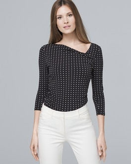 Dot Print Asymmetric Top by Whbm