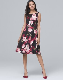 Shop dresses for women white house black market floral print scuba fit and flare dress mightylinksfo