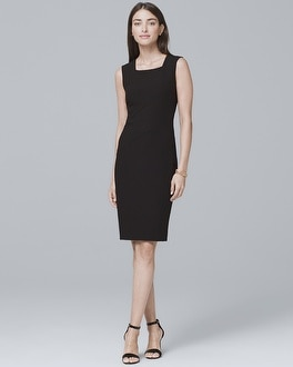 Body Perfecting Black Seamed Sheath Dress | Tuggl