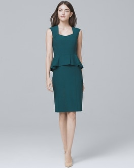 Body Perfecting Peplum Sheath Dress | Tuggl