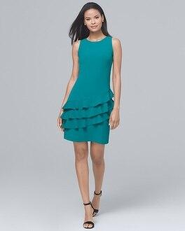 Ruffle-Skirt Shift Dress | Tuggl