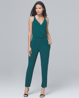 Sleeveless Knit Tapered-Leg Jumpsuit | Tuggl