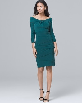 Twisted & Tiered Instantly Slimming Sheath Dress | Tuggl