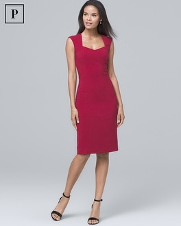 Petite Seamed Suiting Sheath Dress by Whbm