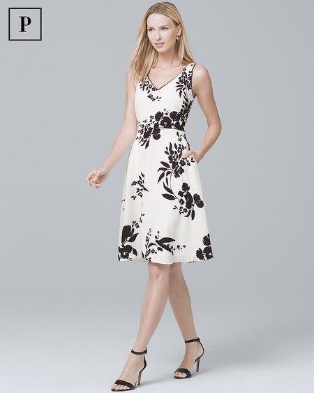 Petite Floral-Print Soft Dress