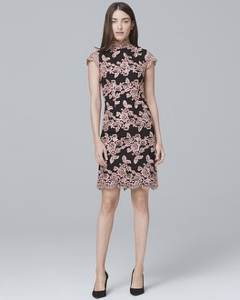 Mock Neck Lace Sheath Dress by Whbm