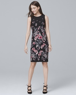 Reversible Floral-Print Sheath Dress | Tuggl