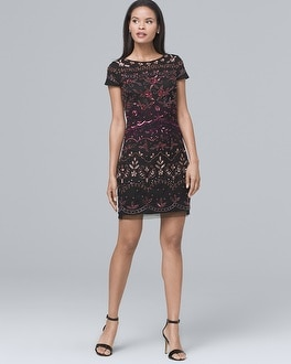Beaded Sheath Dress | Tuggl