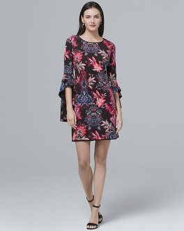 Reversible Paisley Shift Dress | Tuggl
