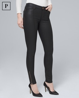 Petite Mid Rise Coated Skinny Ankle Jeans by Whbm