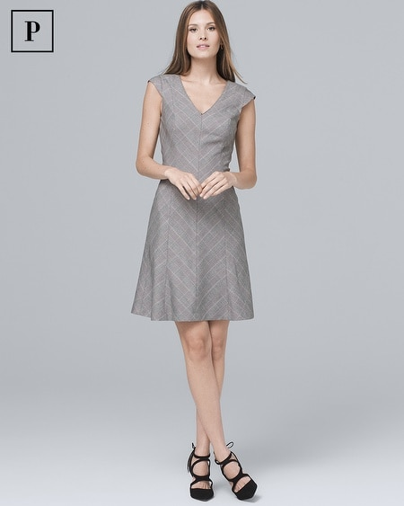 e030a18b0fe2 Petite Plaid A-Line Dress by White House Black Market