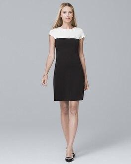 Contrast Yoke Shift Dress by Whbm